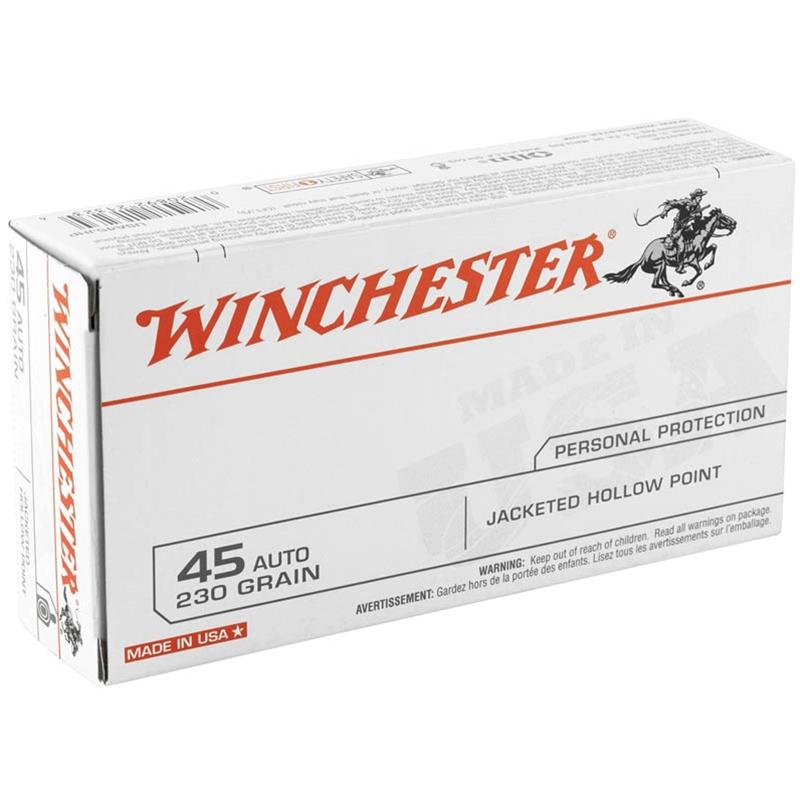 Winchester USA 45 ACP Auto 230 Grain JHP