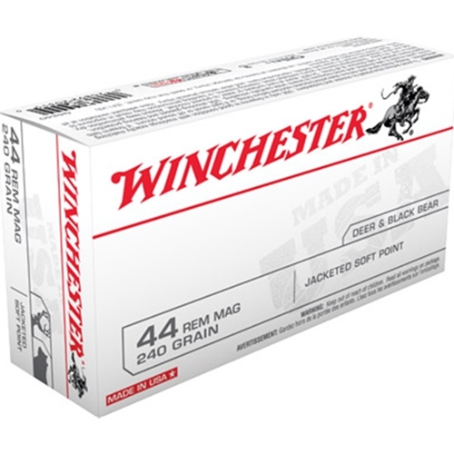 Winchester USA 44 Rem Mag 240 Grain Jacketed SP