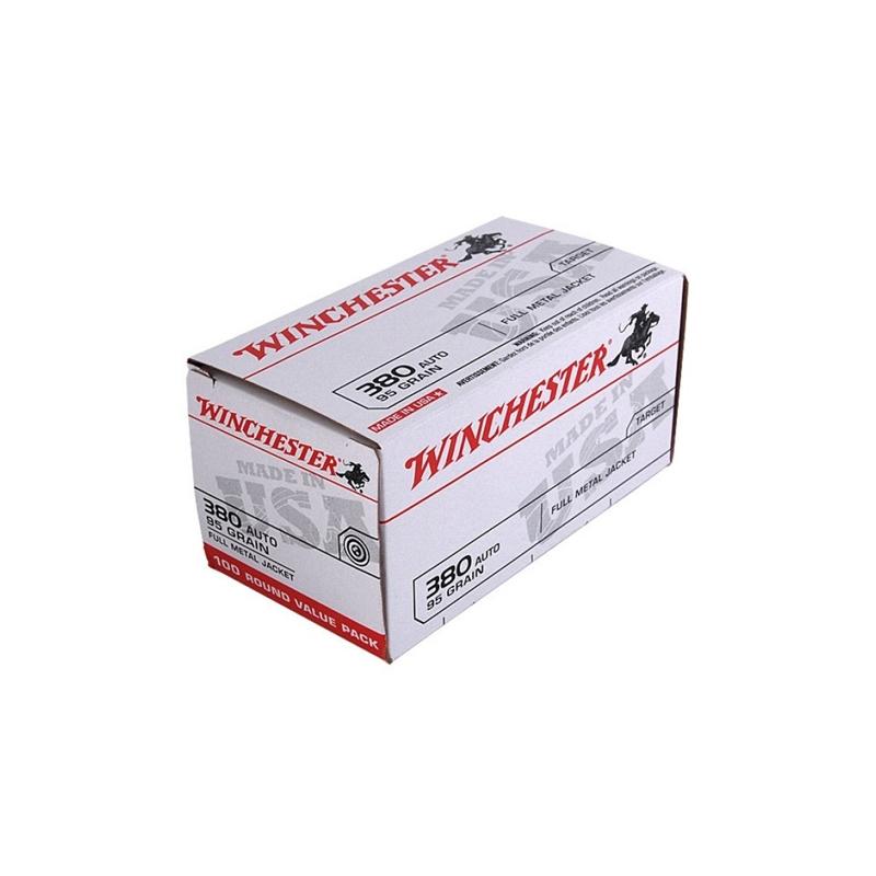 Winchester USA 380 ACP AUTO 95 Grain FMJ VP
