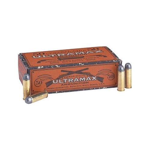 Ultramax Cowboy Action 38 Long Colt Ammo 158 Grain Lead Flat Nose