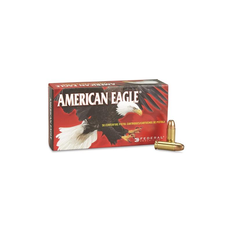 Federal American Eagle 38 Super Ammo +P 130 Gr FMJ
