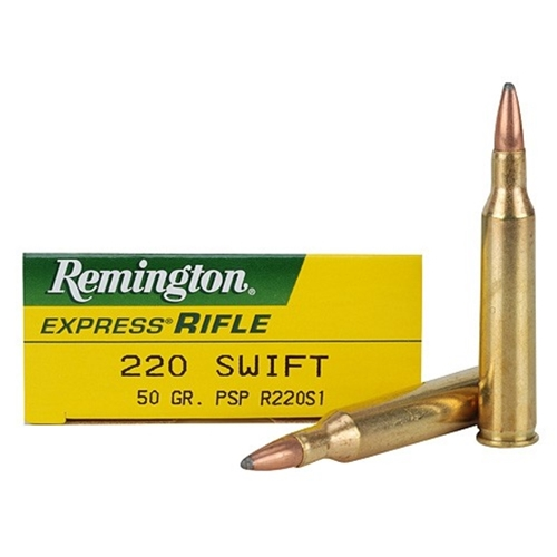 Remington Express 220 Swift Ammo 50 Grain Pointed Soft Point
