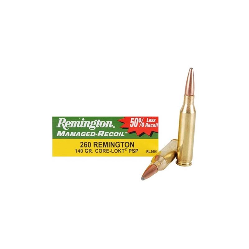 Remington Managed-Recoil 260 Remington 140 Grain Core-Lokt PSP