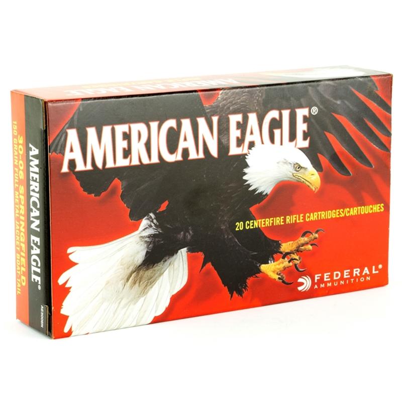 Federal American Eagle 30-06 Springfield Ammo 150 Grain FMJ