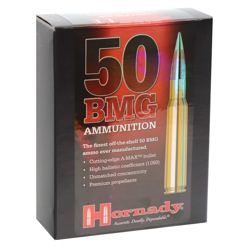 Hornady Match 50 BMG Ammo 750 Grain A-Max BT