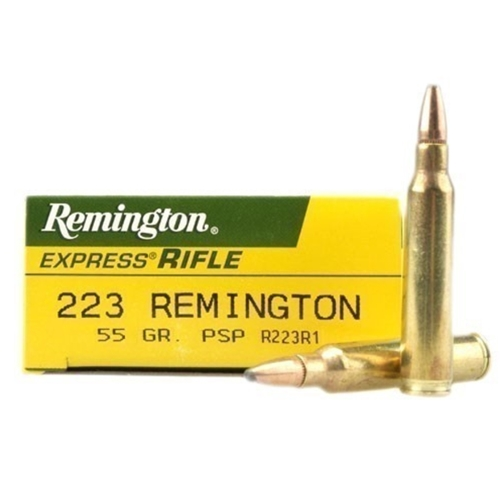 Remington Express 223 Remington Ammo 55 Grain PSP