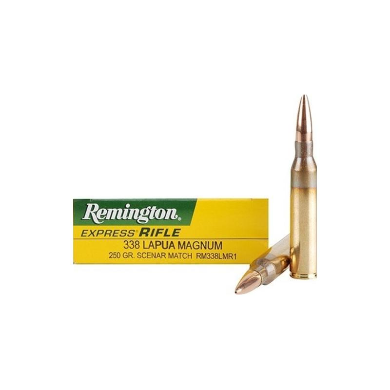 Remington Express 338 Lapua Magnum Ammo 250 Grain Lapua Scenar