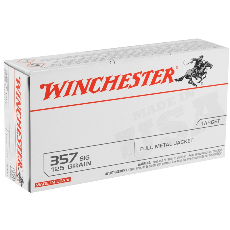 Winchester USA 357 SIG 125 Grain Full Metal Jacket
