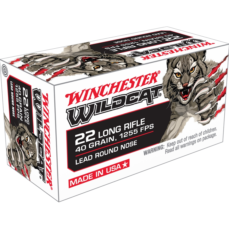 Winchester Wildcat 22 Long Rifle 40 Grain LRN