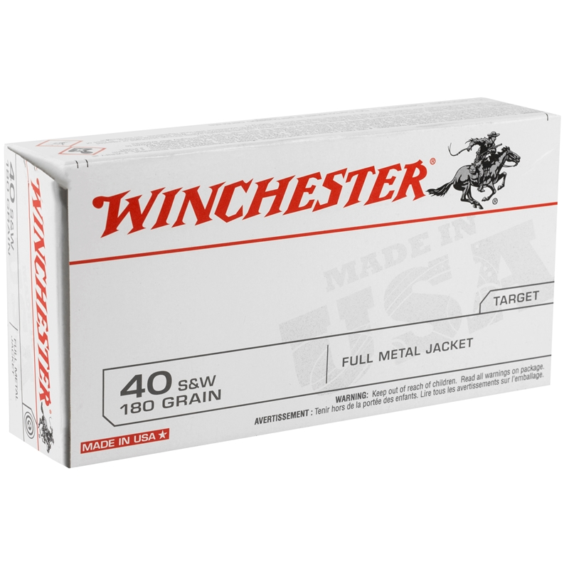 Winchester USA 40 S&W 180 Grain FMJ Q-Loads