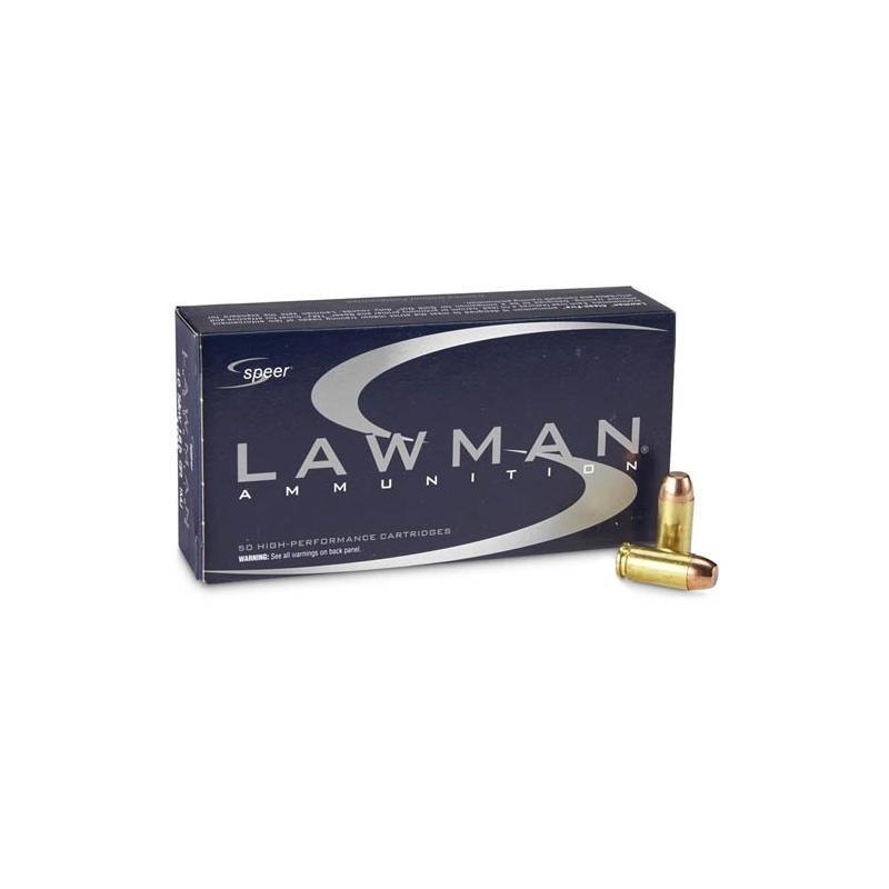 Speer Lawman 40 S&W Ammo 180 Grain Total Metal Jacket