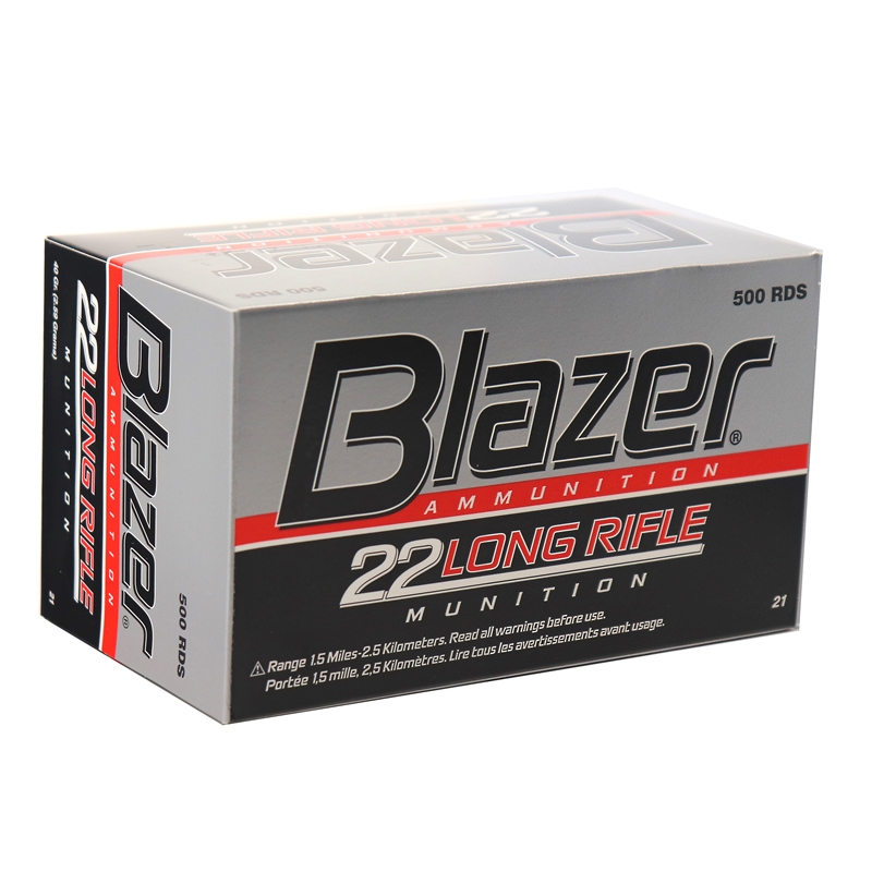 cci blazer 22 long rifle ammo 40 grain lead round nose