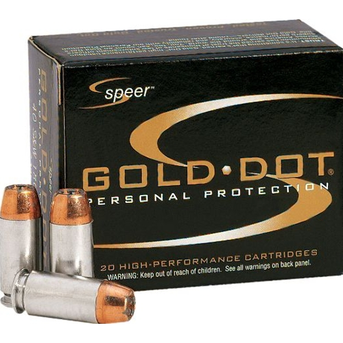 Speer Gold Dot Ammo 45 ACP 200 Grain +P Jacketed Hollow Point Ammuintion