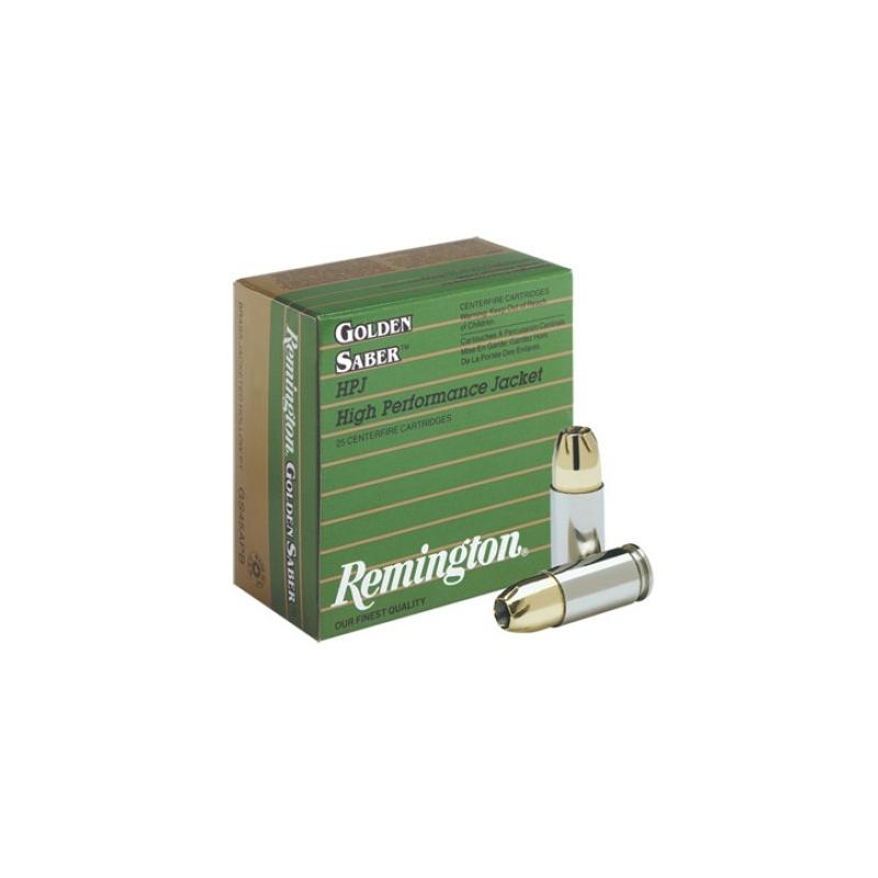 Remington Golden Saber 45 ACP AUTO Ammo 185 Grain Brass Jacketed Hollow  Point