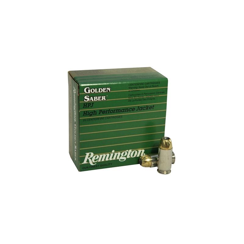 Remington Golden Saber 45 ACP AUTO Ammo 185 Grain +P Brass JHP