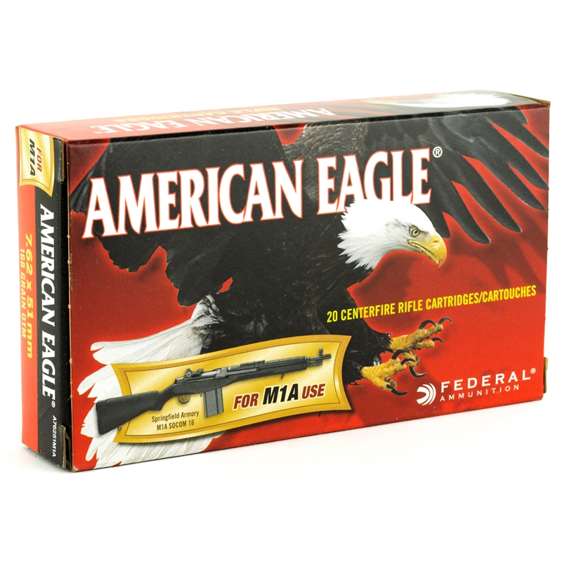Federal American Eagle 7.62x51mm Ammo 168 Grain Open Tip Match