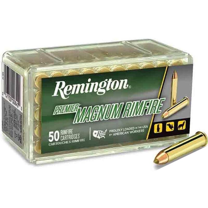 Remington Premier 22 WMR Ammo 33 Grain AccuTip