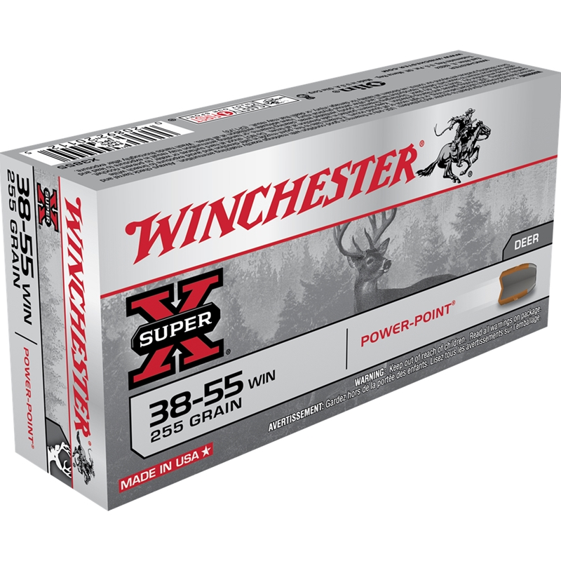 Winchester Super-X Rifle 38-55 WCF 255 Grain Soft Point