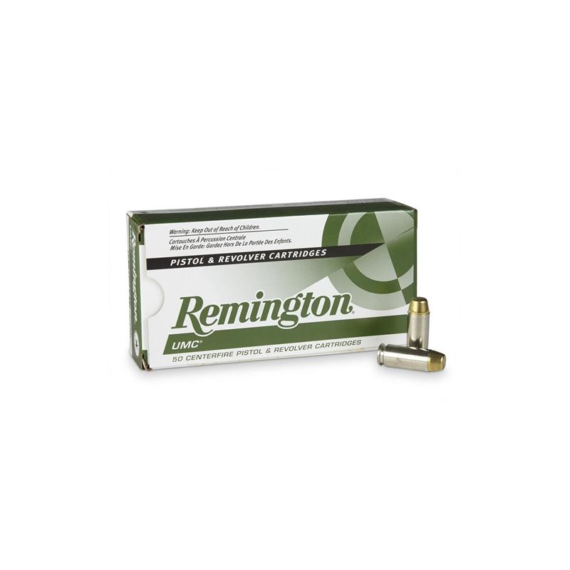 Remington UMC 10mm Auto Ammo 180 Grain Nickel Plated FMJ