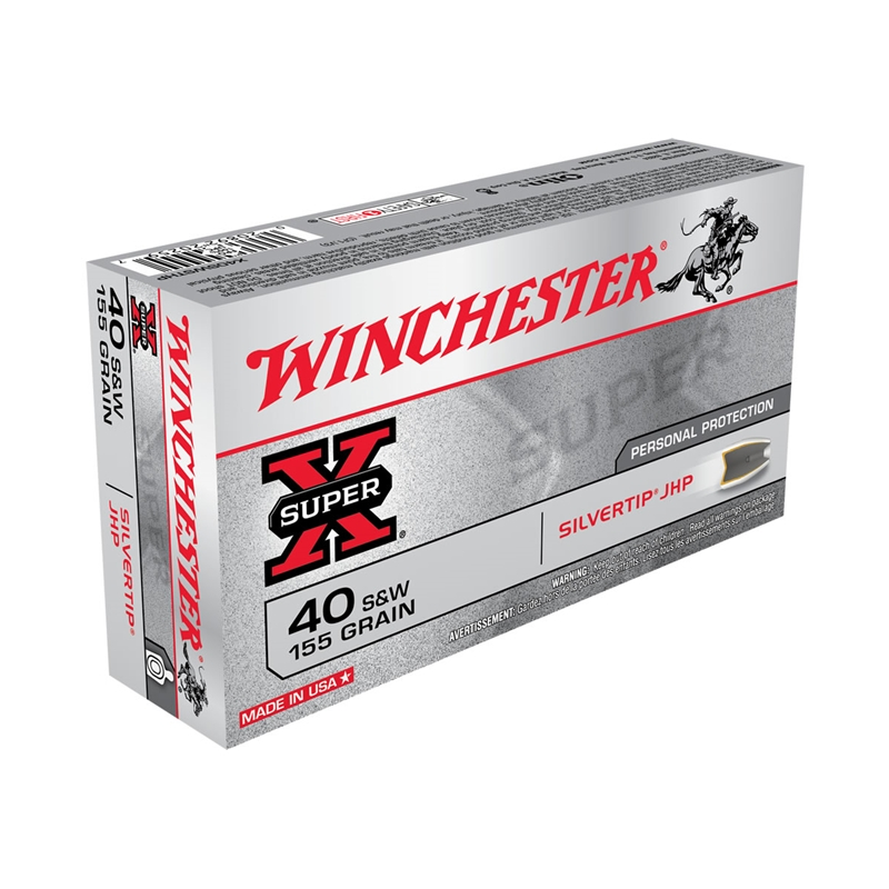 Winchester Super-X 40 S&W 155 Grain Silvertip Hollow Point