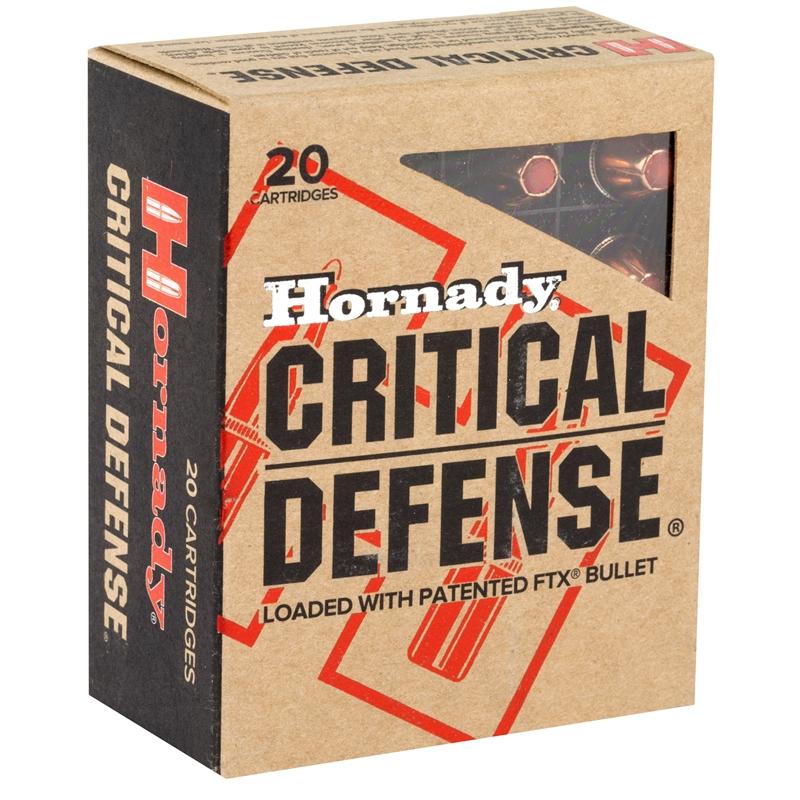 Hornady Critical Defense 40 S&W Ammo 165 Grain FTX
