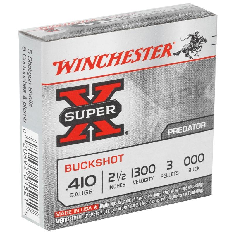 "Winchester Super-X 410 Bore 2-1/2"" 000 Buckshot 3 Pellets"
