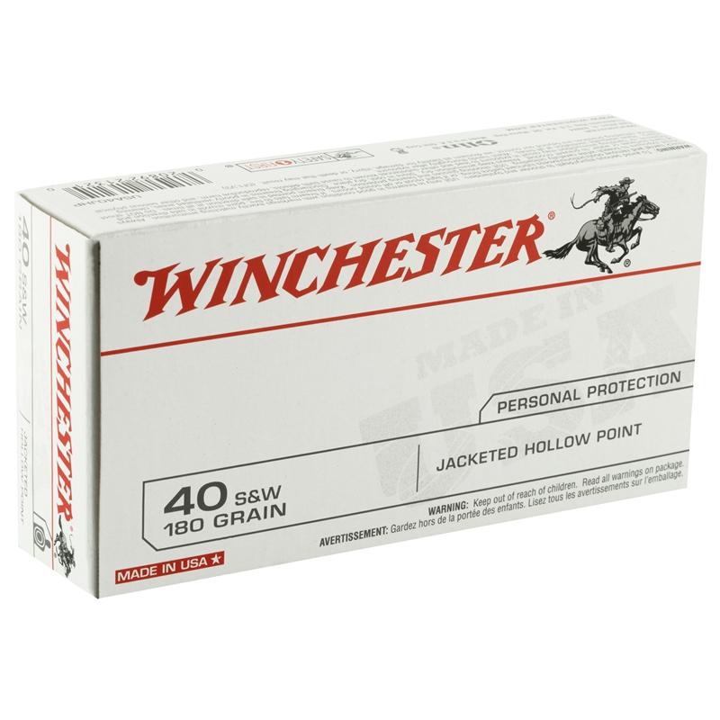 Winchester USA 40 S&W 180 Grain JHP