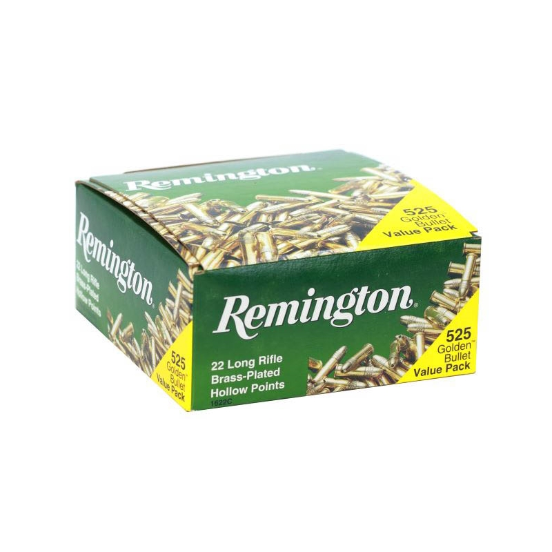 Remington Golden Bullet 22 LR Ammo 36 Grain PLHP 525 Rounds
