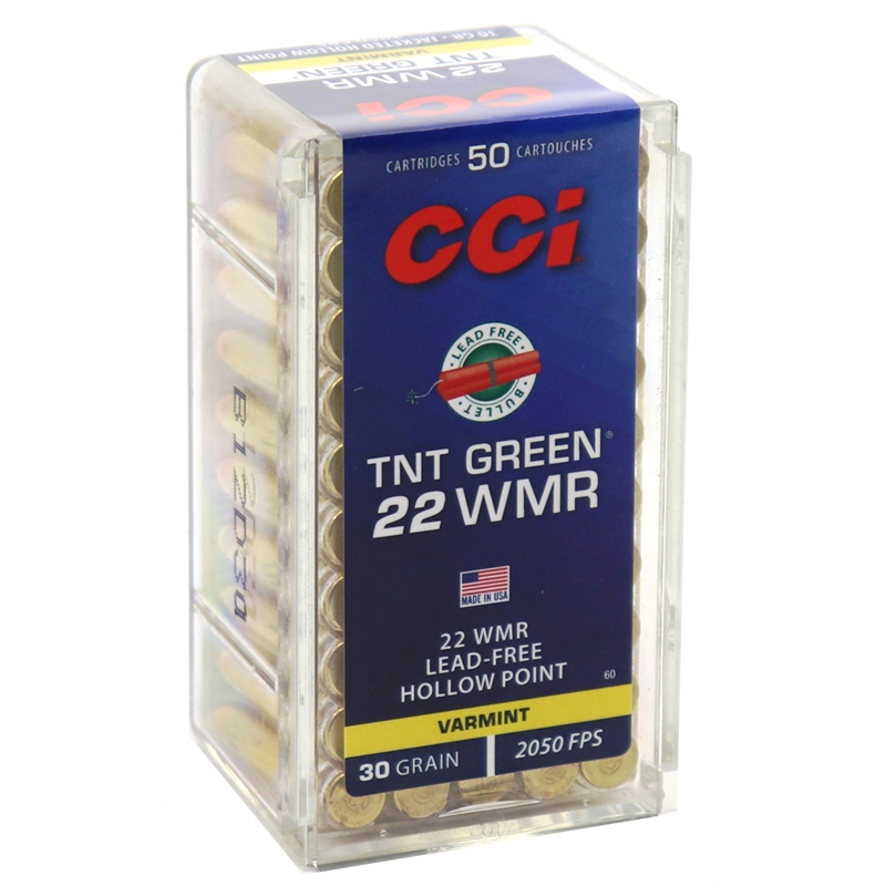 CCI Maxi-Mag 22 WMR Ammo 30 Grain Speer TNT Green HP Lead-Free