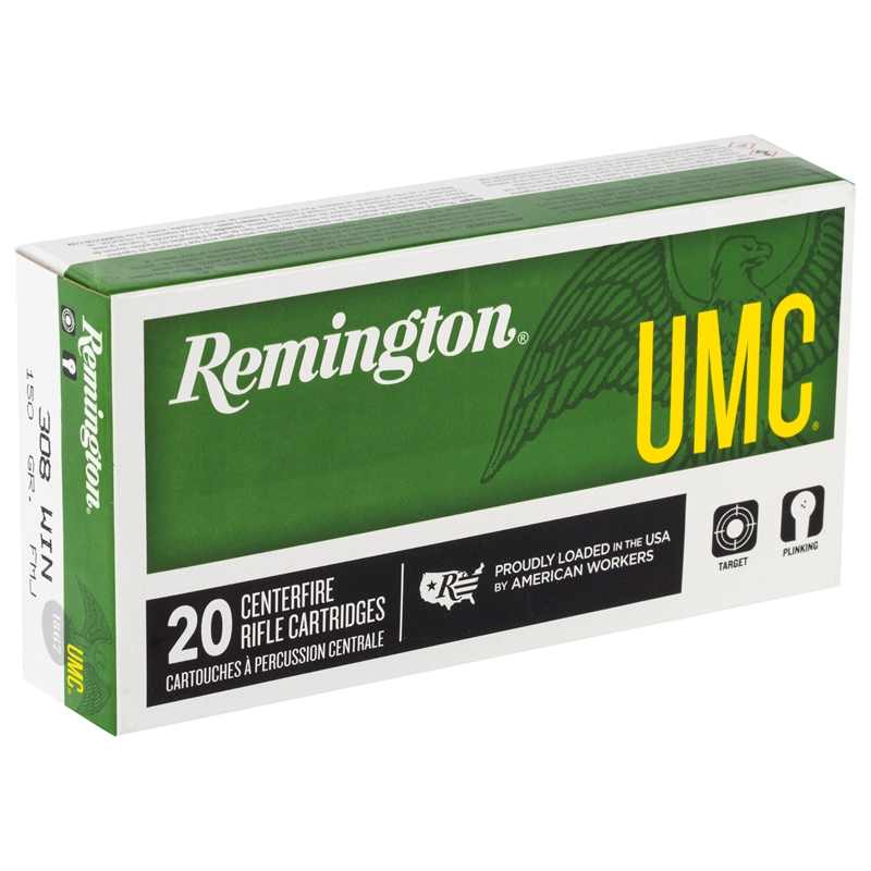 Remington UMC 308 Winchester Ammo 150 Grain Full Metal Jacket
