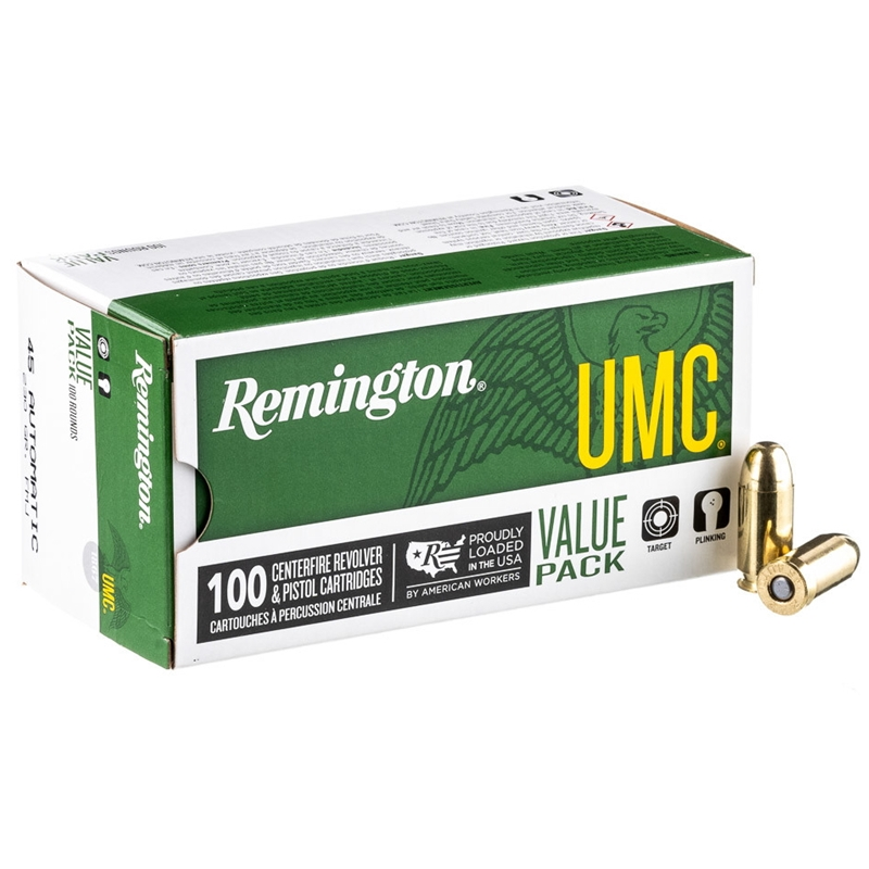 Remington UMC 45 ACP Auto Ammo 230 Grain FMJ VP 100 Rds
