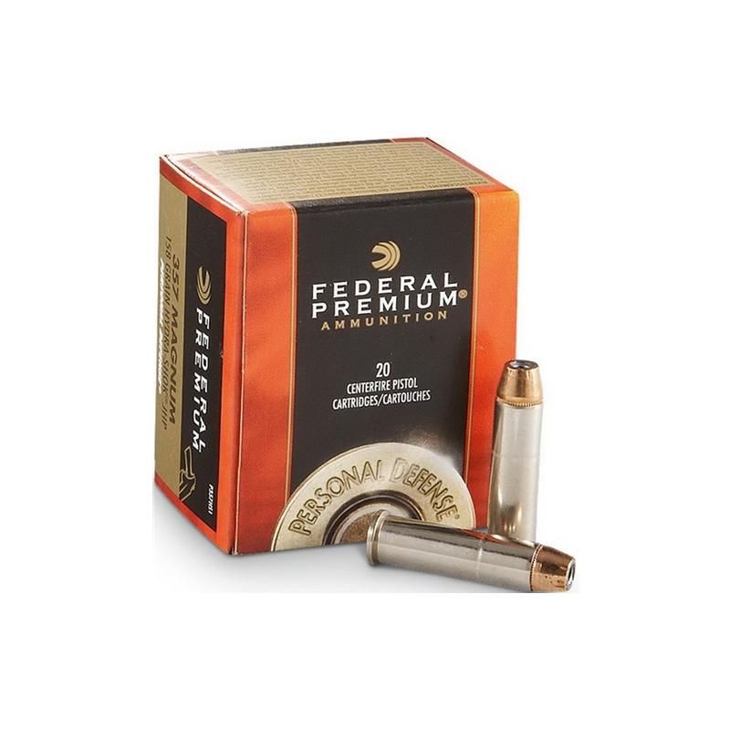 Federal 357 Magnum Ammo 158 Grain Hydra-Shok JHP