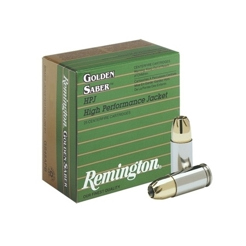 Remington Golden Saber 357 Magnum Ammo 125 Grain Brass JHP