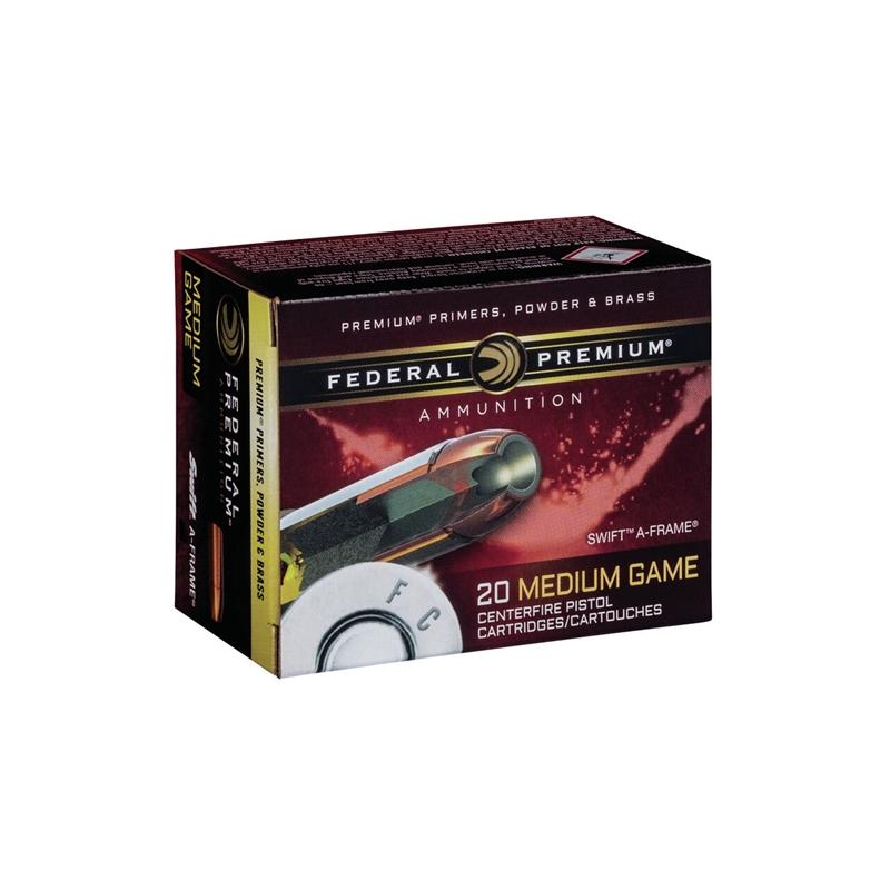 Federal Premium Vital-Shok 357 Magnum Ammo 140 Grain Barnes Expander