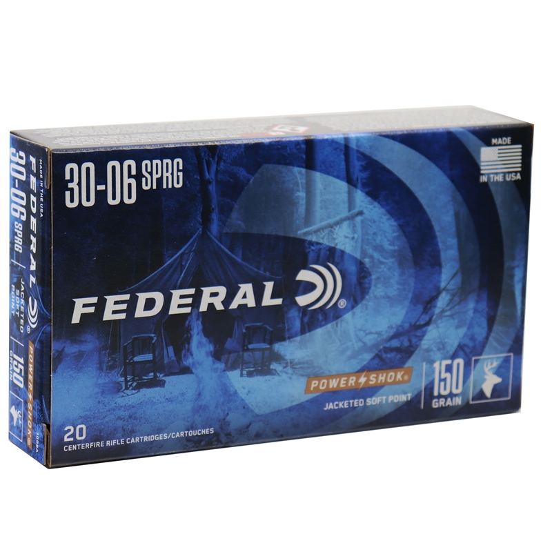 Federal Power-Shok 30-06 Springfield 150 Grain JSP