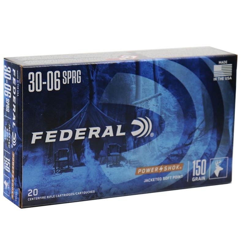Federal Power-Shok 30-06 Springfield 150 Grain JSP