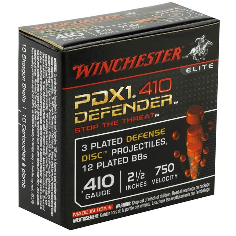 """Winchester PDX1 410 Gauge 2-1/2"""" 3 Disks over 1/4 oz BB Bonded"""