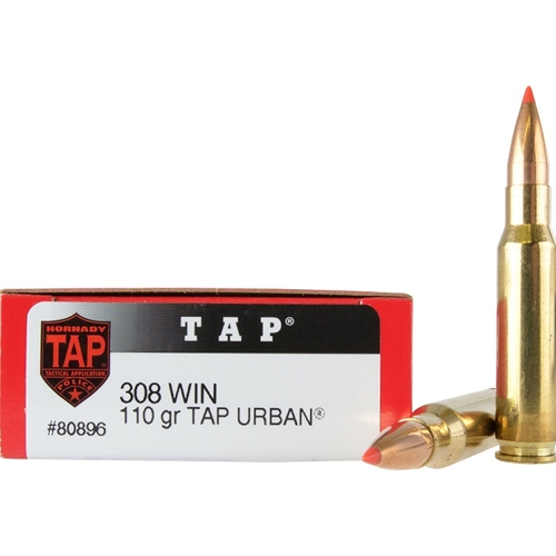 Hornady TAP 308 Winchester Ammo 110 Grain Urban Hollow Point Boat Tail
