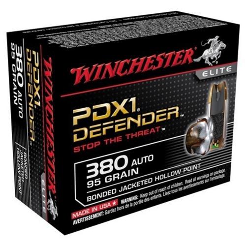 Winchester PDX1 Defender 380 ACP Auto 95 Grain Bonded JHP