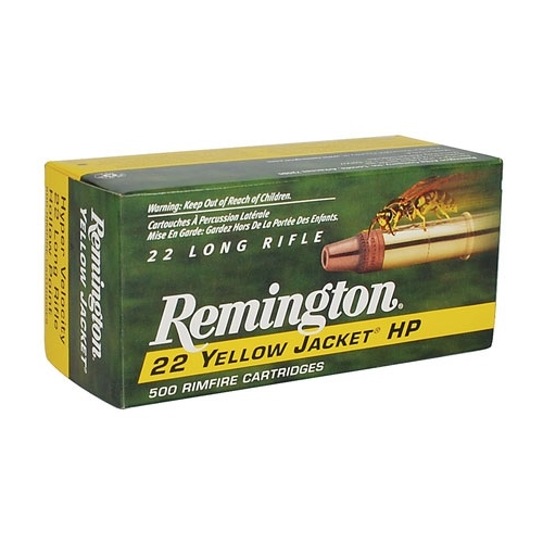 Remington Yellow Jacket 22 LR 33 Gr. HV Plated Truncated Cone HP