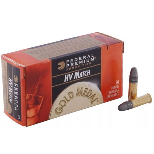Federal Gold Medal Target Ammo 22 Long Rifle 40 Grain LRN