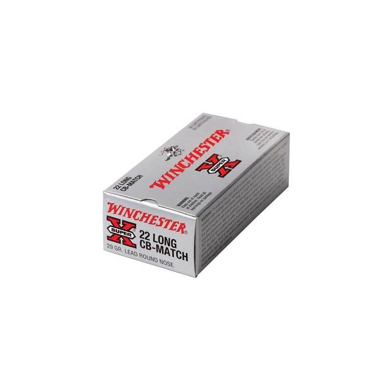 Winchester Super-X 22 Long CB Match 29 Grain Lead Round Nose