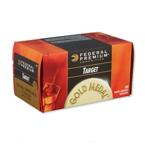 Federal Gold Medal Target 22 Long Rifle Ammo 40 Grain Solid LRN