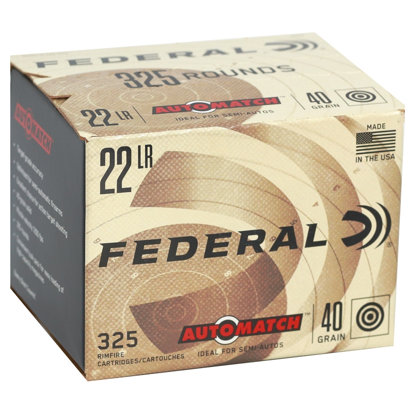 federal automatch 22 long rifle ammo 40 grain lead round nose