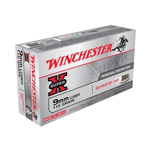 Winchester Super-X 9mm Luger 115 Grain Silvertip Hollow Point