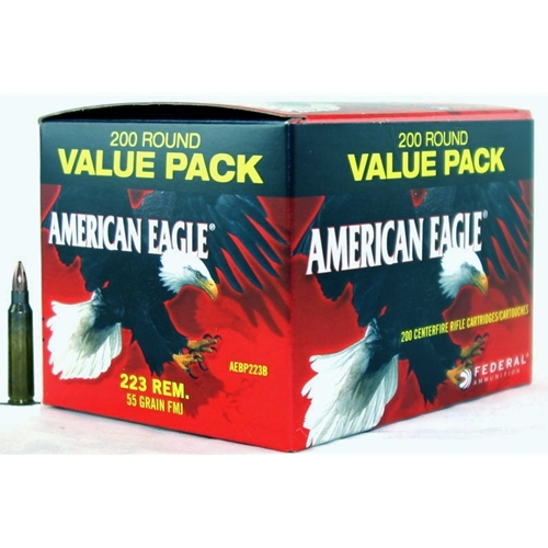 Federal American Eagle 223 Remington Ammo 55 Grain FMJ Value Pack