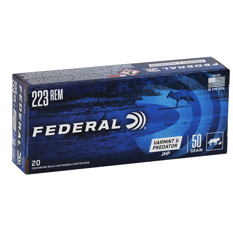 Federal American Eagle Ammo 223 Remington 50 Grain JHP