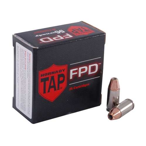 Hornady TAP-FPD 9mm Luger Ammo 124 Grain Jacketed Hollow Point