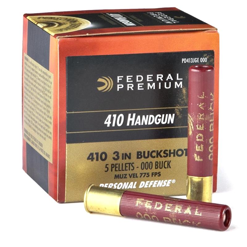 "Federal Personal Defense 410 Ga Ammo 3"" 000 Buckshot 5 Plt"
