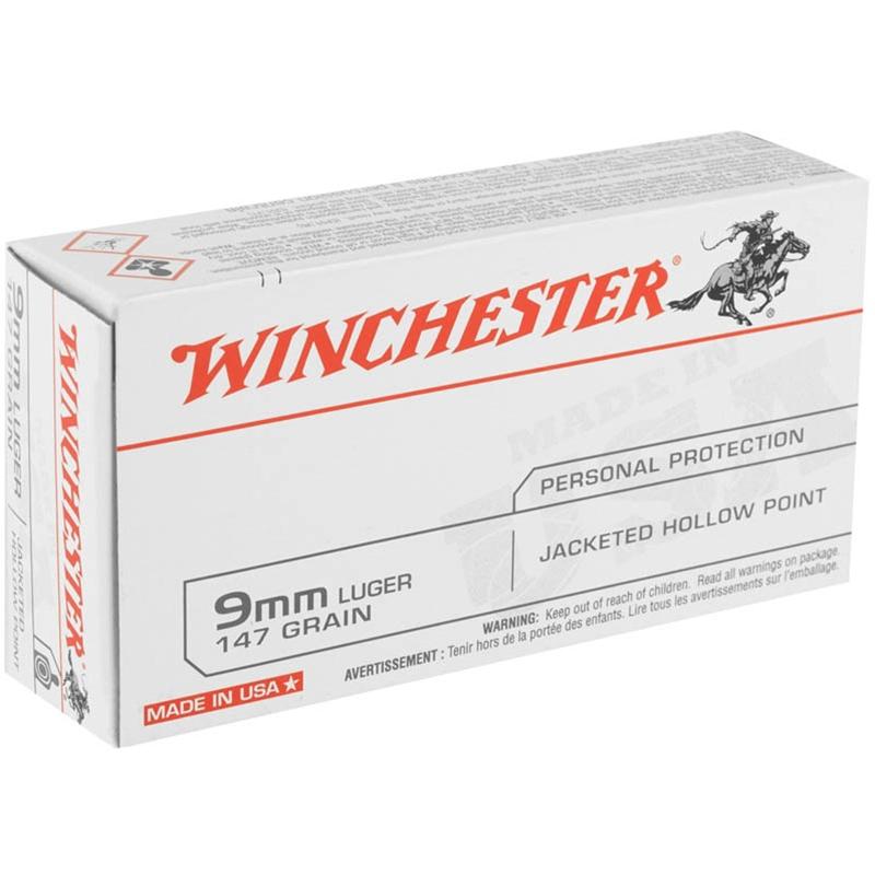 Winchester USA 9mm Luger 147 Grain JHP